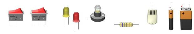 Komponenter strømkrets