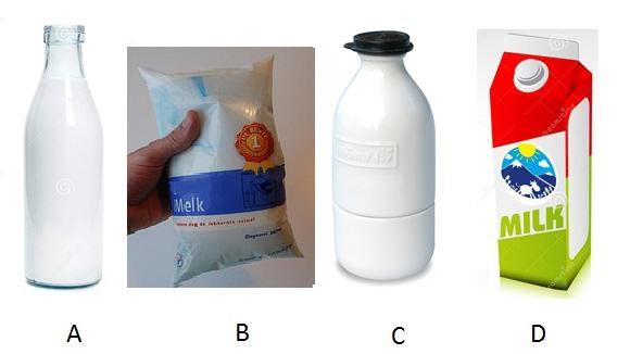 Type verpakkingen melk