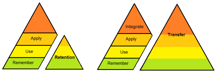 Retention and Transfer pyramids