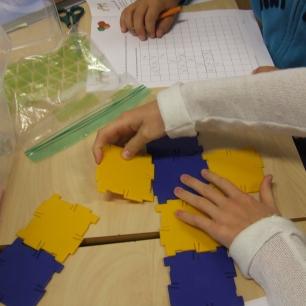 utbrettet mønster av en kube